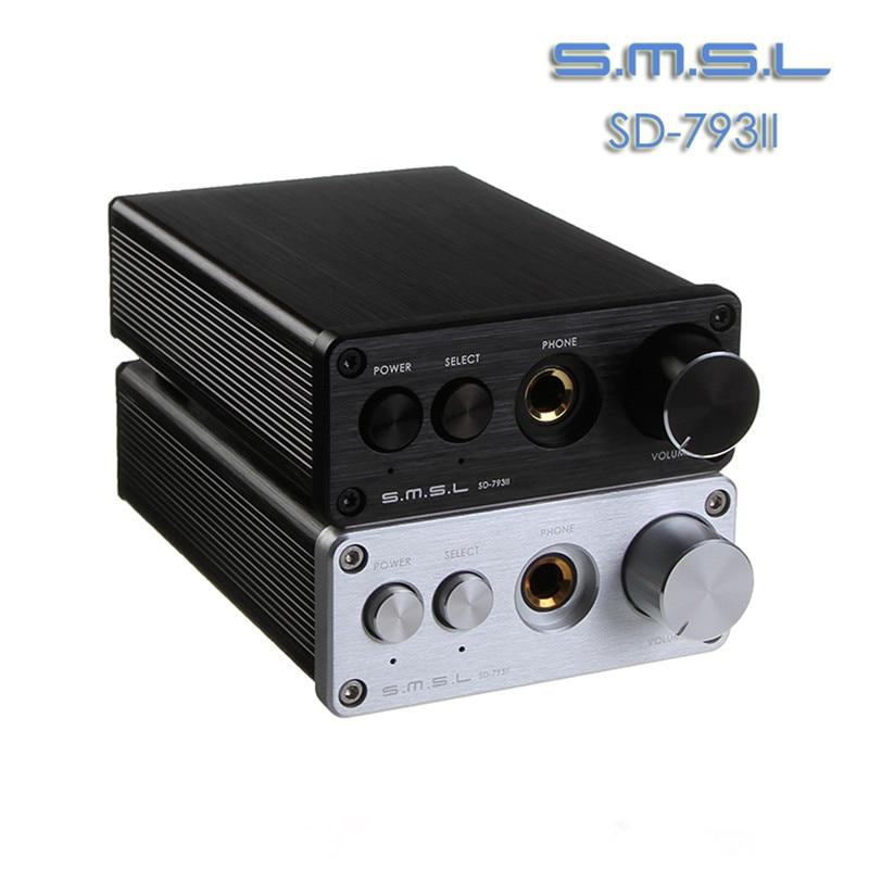 SMSL SD-793II DAC DIR9001 PCM1793 OPA2134 24bit 96khz Coax/Optical Iutput+Mini Home Headphone Amplifier Amp Aluminum Enclosure