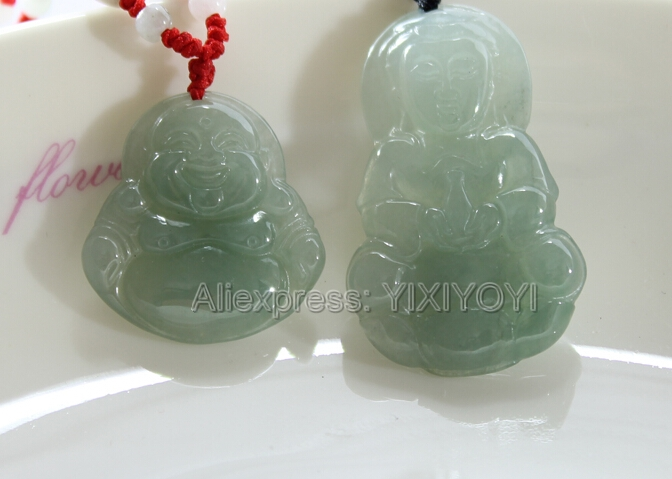 Beautiful Handwork Natural Green Grade A Jadeite Carved GuanYin Buddha Lucky Amulet Pendant + Free Necklace Certificate Jewelry wonderful handwork natural grade a green jadeite carved turtle crane lucky amulet pendant free necklace certificate jewelry