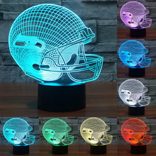 Novelty NFL Seattle Seahawks 3D Night Light USB LED Light 7 Colors Change Touch LED Table Lamp Xmas Gift  Night Lamp IY803665