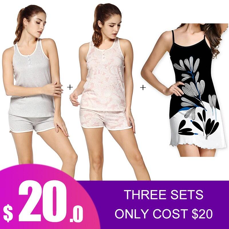 Yusano Women Pajama Sets Women Pijama Summer Nightwear Sexy Lingerie Pajamas Pyjamas Women Homewear NEW Sleepwear Nightwear