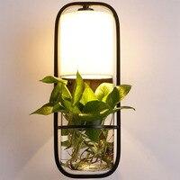 Nowoczesna donica na rośliny dekoracja na ścianę lampa moda Nordic Shade nowoczesny stół jadalny wisząca oprawa oświetleniowa DIY oprawa oświetlenie biurowe w Wewnętrzne kinkiety LED od Lampy i oświetlenie na