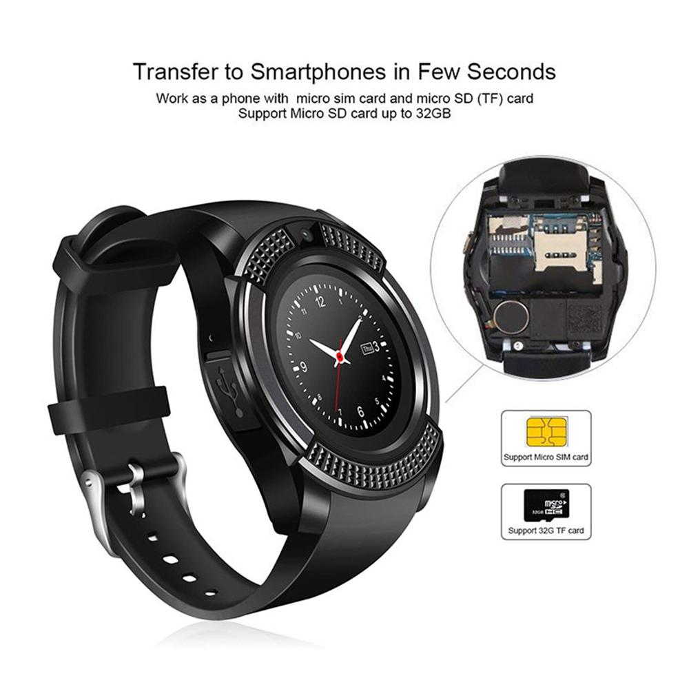 6f58a51ed V8 Smart Watch Bluetooth Smartwatch Wrist Watch Camera SIM Card Slot  Waterproof For Android IOS DZ09 X6 VS M2 A1-in Smart Watches from Consumer  Electronics ...