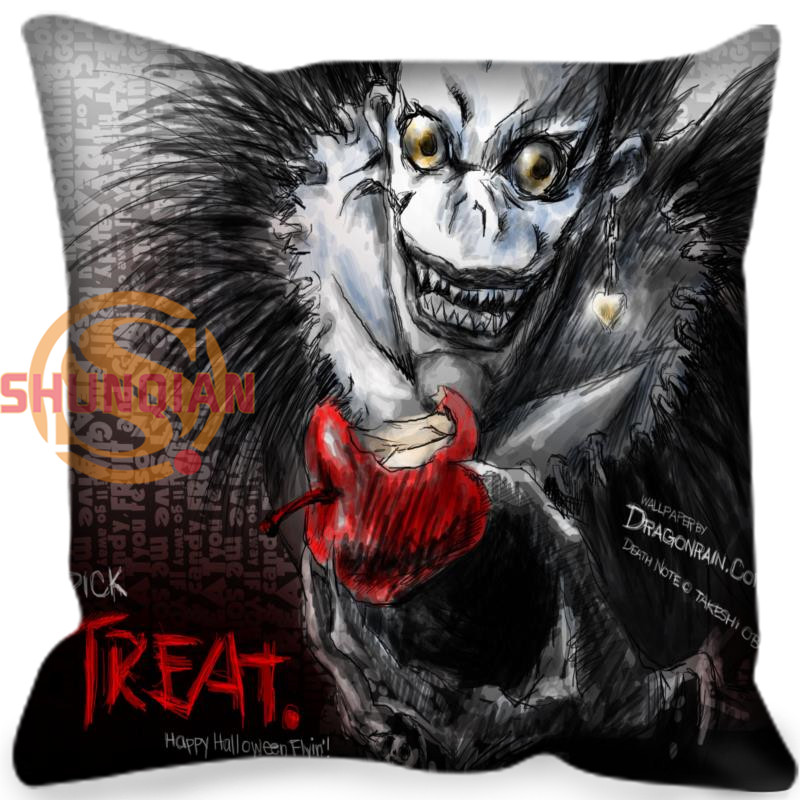 Custom Pillowcase Death note Square Zippered Pillow Cover Classic Home Decorative 20X20cm,35X35cm(one side)