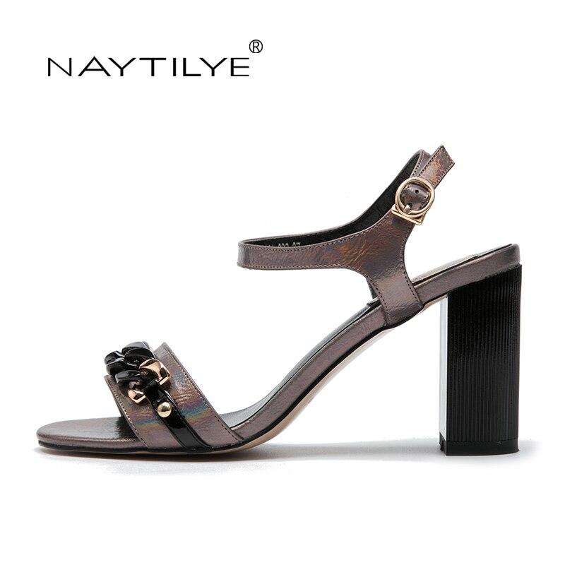 NAYTILYE Sommer Sandalen Bling Strass Frauen Sandalen High heels Mode - Damenschuhe - Foto 3