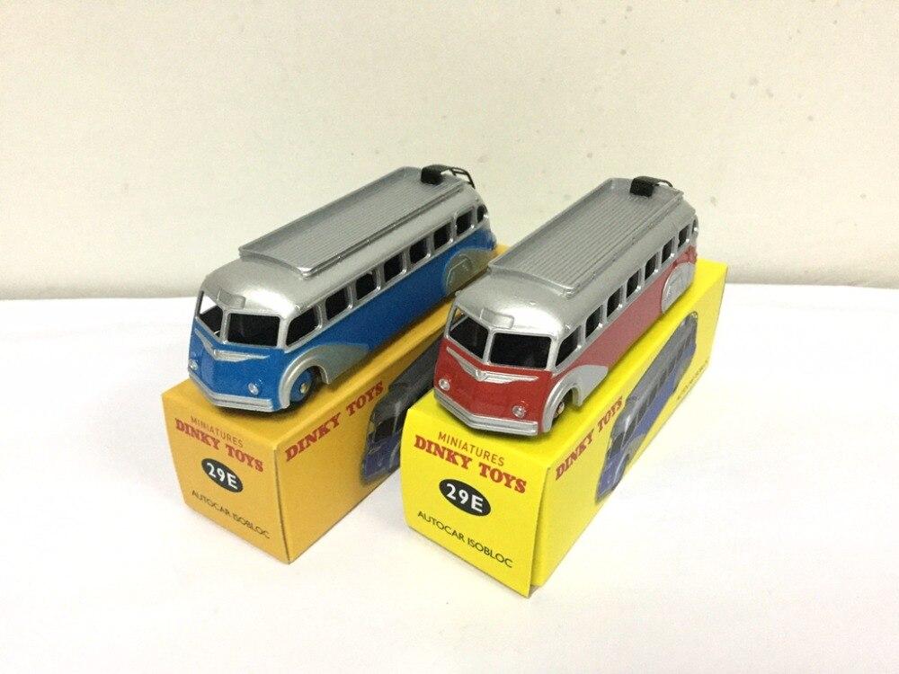 2pcs Atlas Dinky Toys 1 43 Miniatures AUTOCAR ISOBLOC 29E Alloy Diecast Car model Toys Model