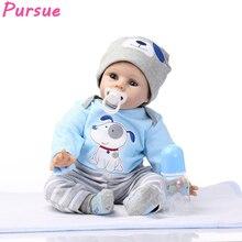 Pursue Blue Eyes Bebe Reborn Silicone Reborn Baby Dolls Educational Toys for Children Girls Boys Silicone Reborn Babies Dolls