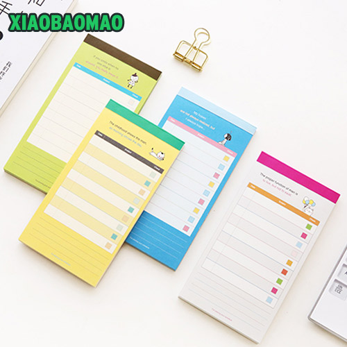 Color inside page Memo Daily and weekly plan Pad Notes Stationery Papelaria Escolar School Notebook kawaii Office Paper gift 8 pack lot cat paper bookmark ice cream paper page holder memo card stationery office school supplies separador de libros 7033 page 6