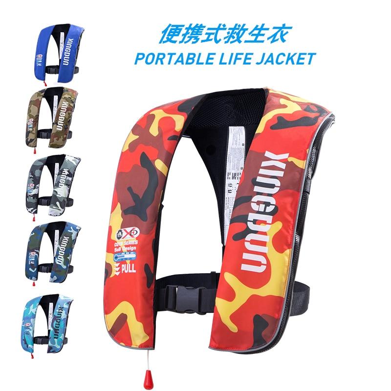 Xingdun Adult Automatic Manual Inflatable PFD Life Jacket Life Vest Survival Swimming Boating Fishing 150N Buoyancy