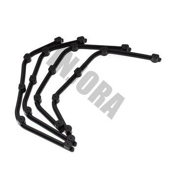 INJORA Schwarz Fender Flares Für 1:10 RC Crawler D90 D110 Axial SCX10 Körper Shell Teile