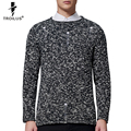 Troilus Men Pullover Sweaters 2016 Man Knitting Outwear Long Sleeve Warm O Neck Solid Pullovers For Mens Knitwear Holes Design