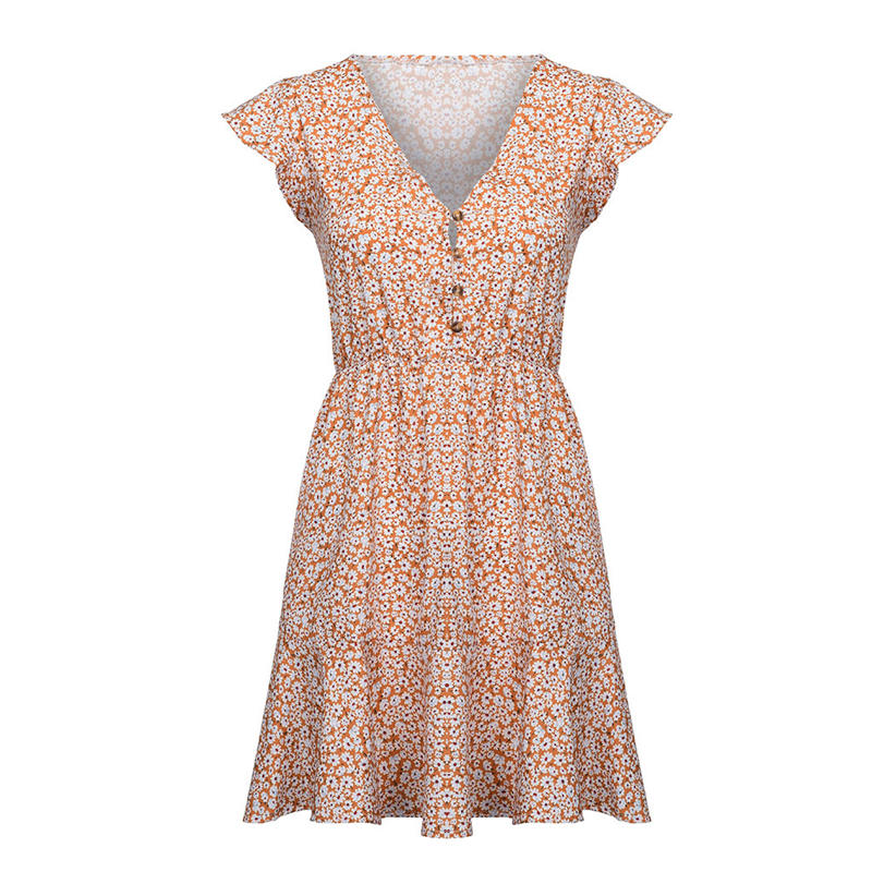 93fb13db5bb05 US $9.95 |2019 Latest Spring&Summer Womens Boho Floral Summer Party Evening  Beach Short Dress Sundress Sweety Casual Dress 40Z-in Dresses from Women's  ...