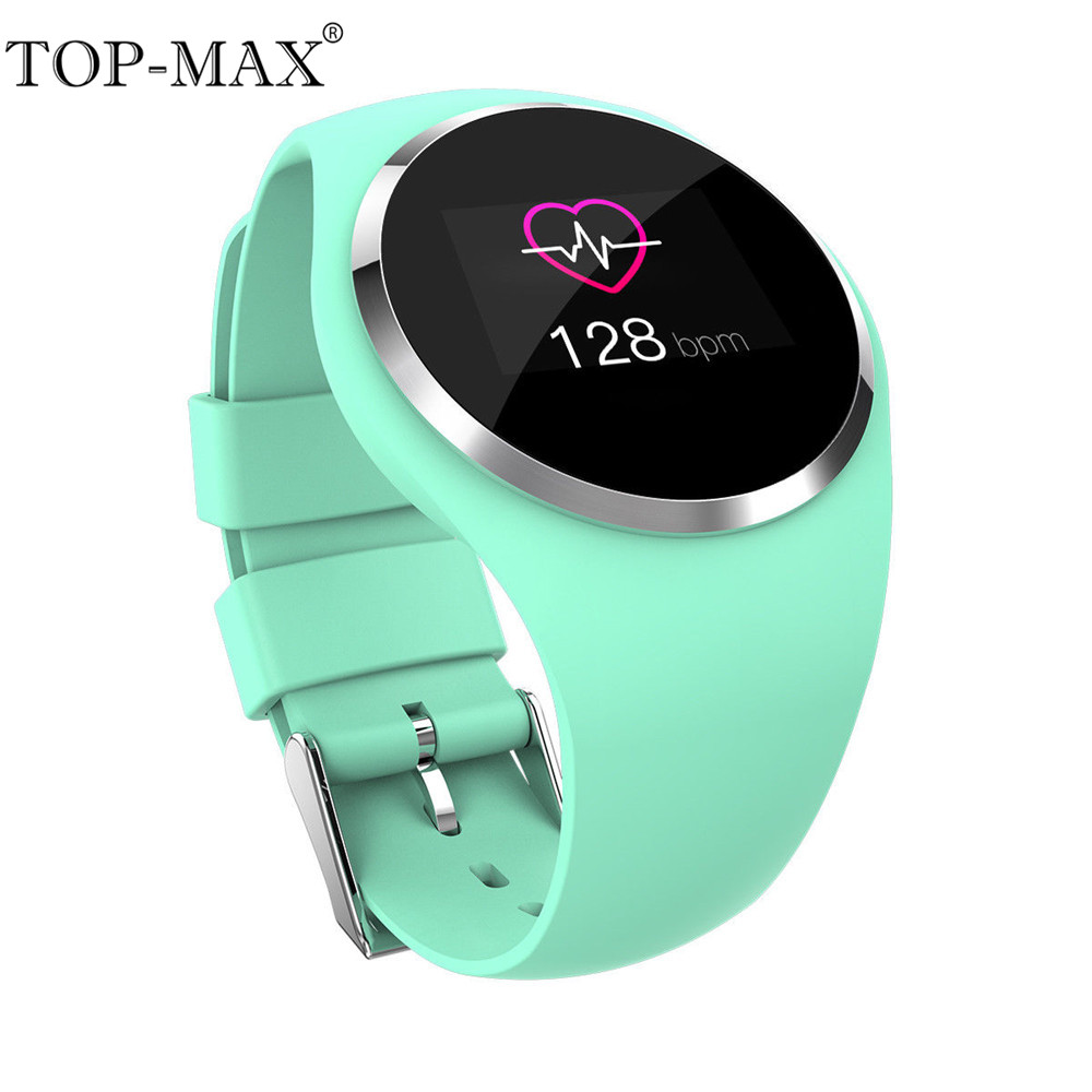 TOP-MAX Q1 Color Screen Smart Watch Blood Pressure Oxygen Monitor Heart Rate Monitor Fitness Tracker Wristband Smart Bracelet