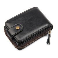 Men Wallets Black Cow Leather Coin Purse Card Holders Mens Wallet Black Smart Travel Credit Card Holder Wallets Money Bags