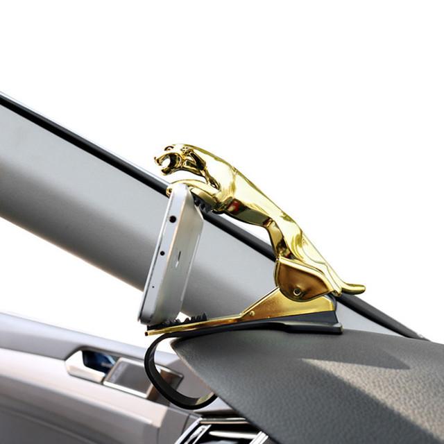 leopard Universal Car Phone Holder Adjustable Dashboard Mount Clip Mobile Smart Phone GPS Stand Bracket For all phone