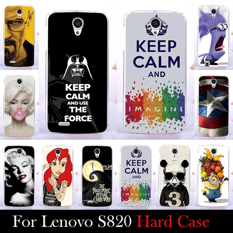 For LENOVO S820 Mobile Phone Case Hard Back Cover DIY Color Paitn Cellphone Shell Skin Despicable Me Shipping Free