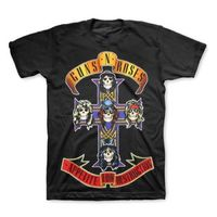 Hight Quality New GUNS N ROSES T Shirt Appetite For Destruction Jumbo Print T Shirt New