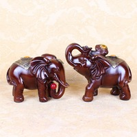 2015 new Resin crafts Thailand Southeast Asian style home decoration good luck elephant wood ornaments D01