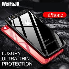 Transparent Full Protective Case For Apple iPhone 7 8 Plus X Cover Luxury Acrylic Silicone Back PC Cover for iPhone 6 6s Case