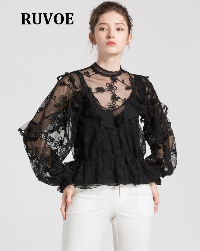 2018 nouveau été automne femmes à manches courtes chemises dentelle Tee hauts femmes vêtements femmes dentelle Blouse Sexy Floral pure Blouses Blusas