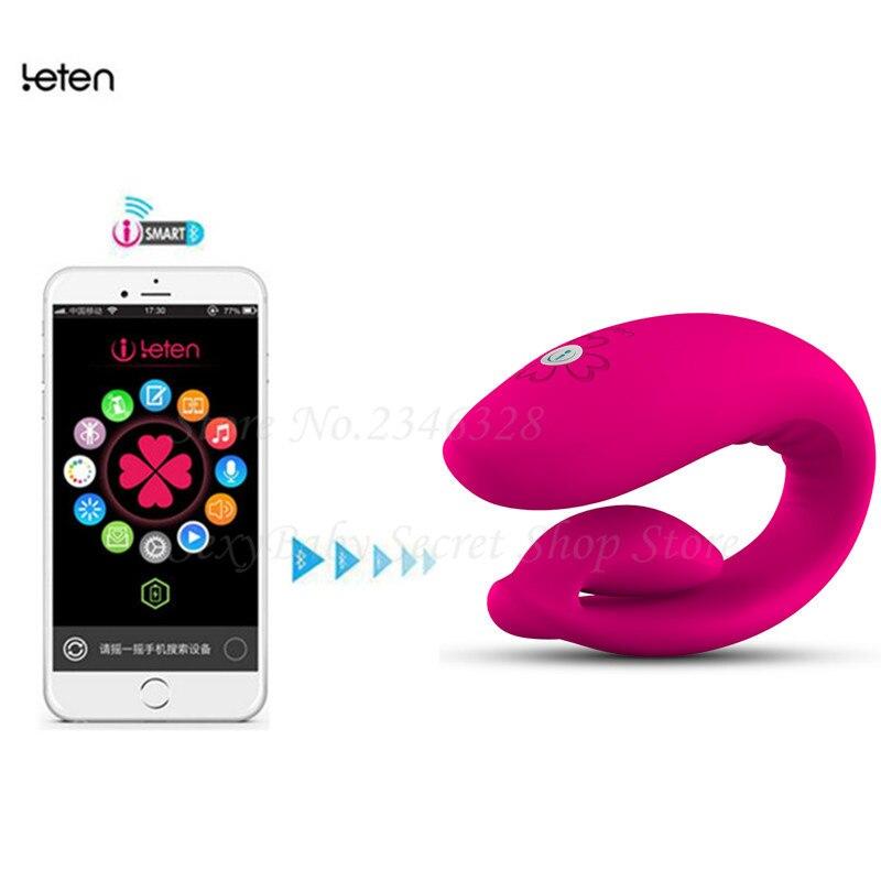 Leten Intelligent Bluetooth APP Vibrators Wireless Remote Control Super Strong Clitoral G spot Vibrador Sex Toys