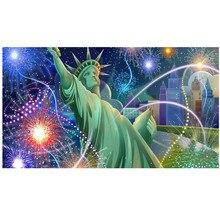5D DIY full round diamond painting Freedom Goddess landscape cross stitch mosaic home decoration gift