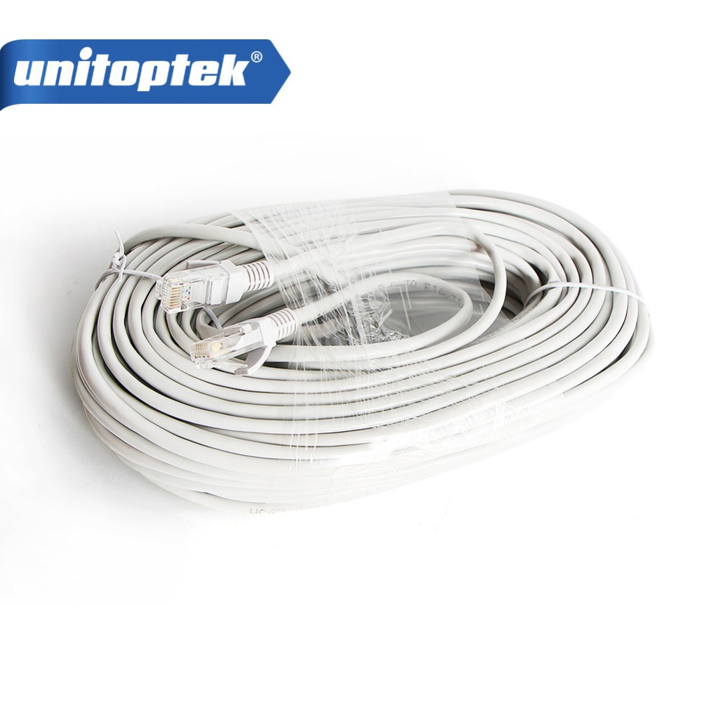 Gray 100ft Cat5E Network Ethernet LAN Video//Thick Power Cable for CCTV IP Camera