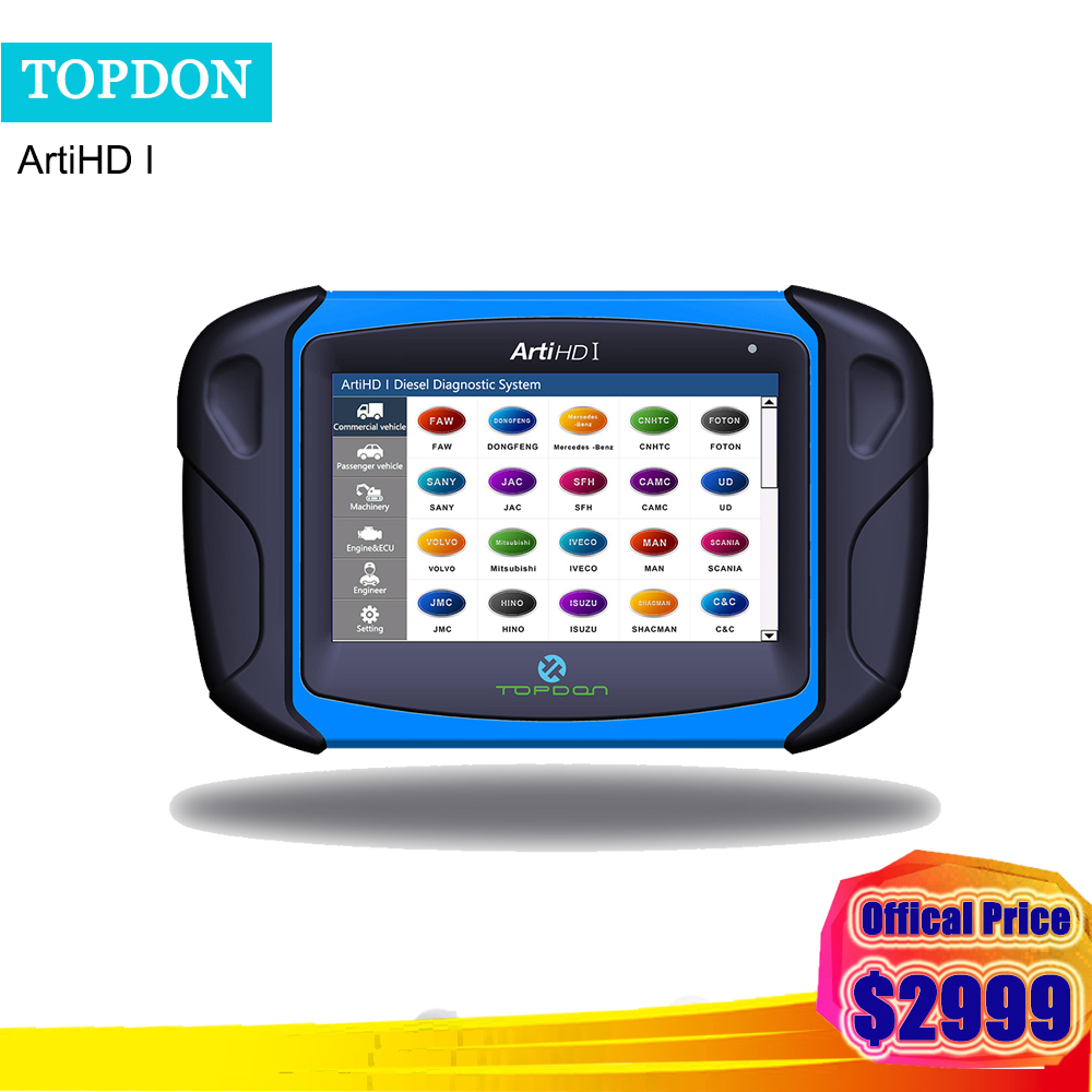 Automotive TOPDON ARTIHD I Heavy Duty Diagnostic Scan Tool for Truck /Commercial