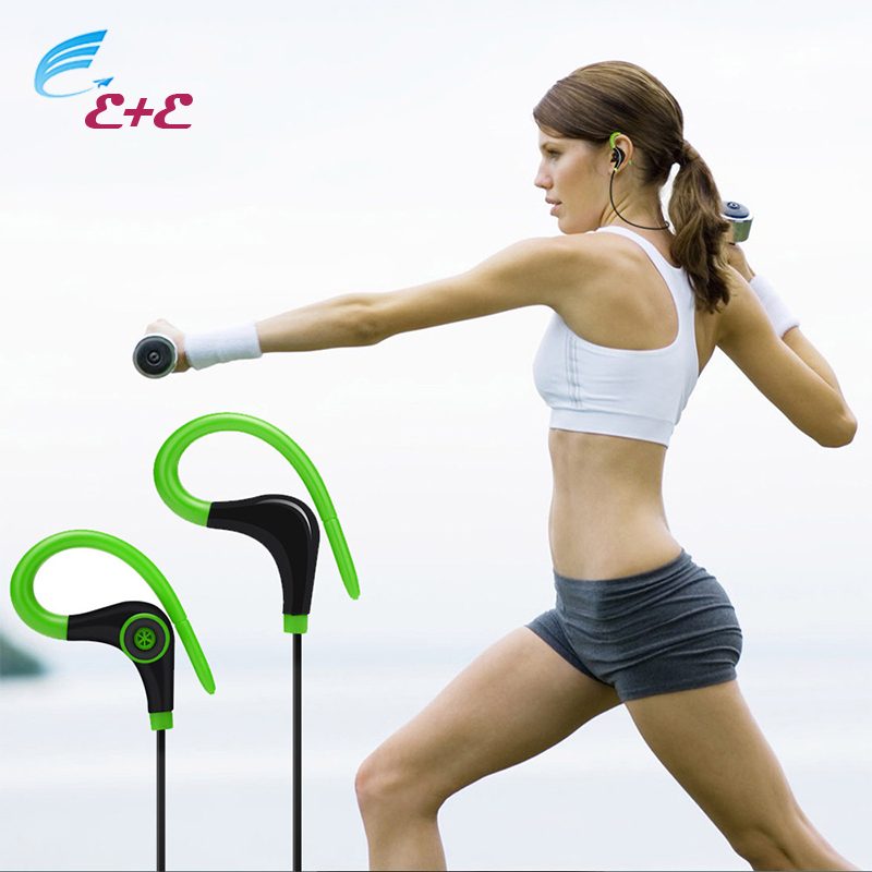 Earphones for a Mobile Phone With Microphone Wireless Bluetooth Headset SPORT Stereo In-ear Earphone for iPhone For Samsung LG* universal led sport bluetooth wireless headset stereo earphone ear hook headset for mobile phone with charger cable