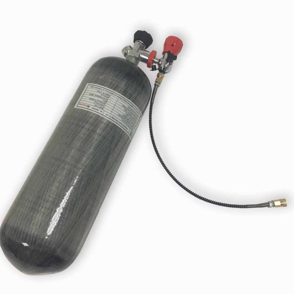AC109301 9L 300Bar حوض للغوص بجهاز تنفس خزان الألوان البسيطة الغوص اسطوانة غاز القوات الجوية كوندور Pcp الغوص Pcp بندقية Acecare خزان الهواء