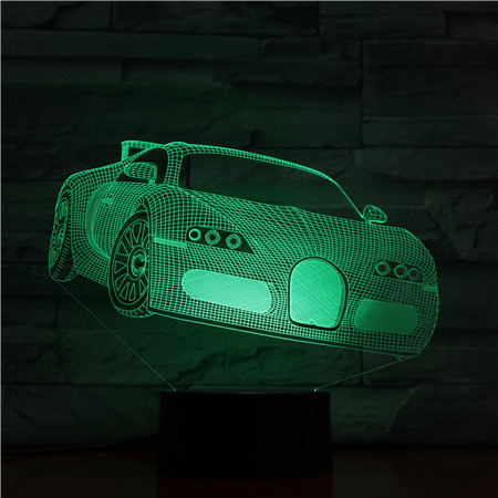 Factory Price <font><b>LED</b></font> <font><b>Night</b></font> <font><b>Light</b></font> Gift <font><b>Car</b></font> Image Touch Sensor Color Changing for Kids Children's Birthday Gift <font><b>3D</b></font> Dimension Lamp image