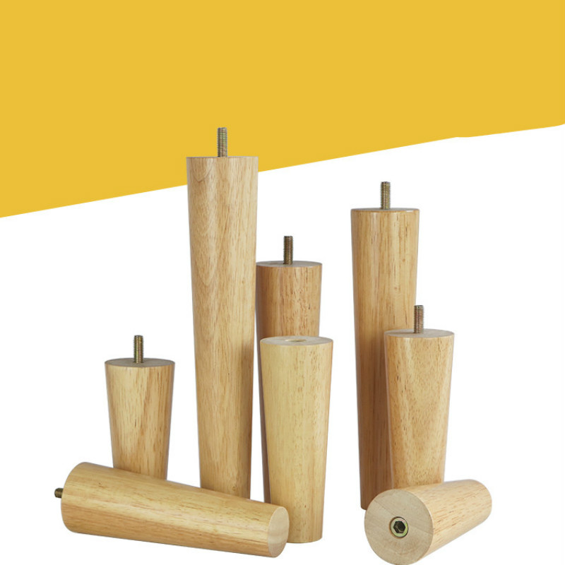 Купить с кэшбэком 4pcs/lot Solid Wood Furniture Legs Furniture Support Foot Leg TV Cabinet Support Feet Sofa Leg Oak Wooden Furniture Accessories