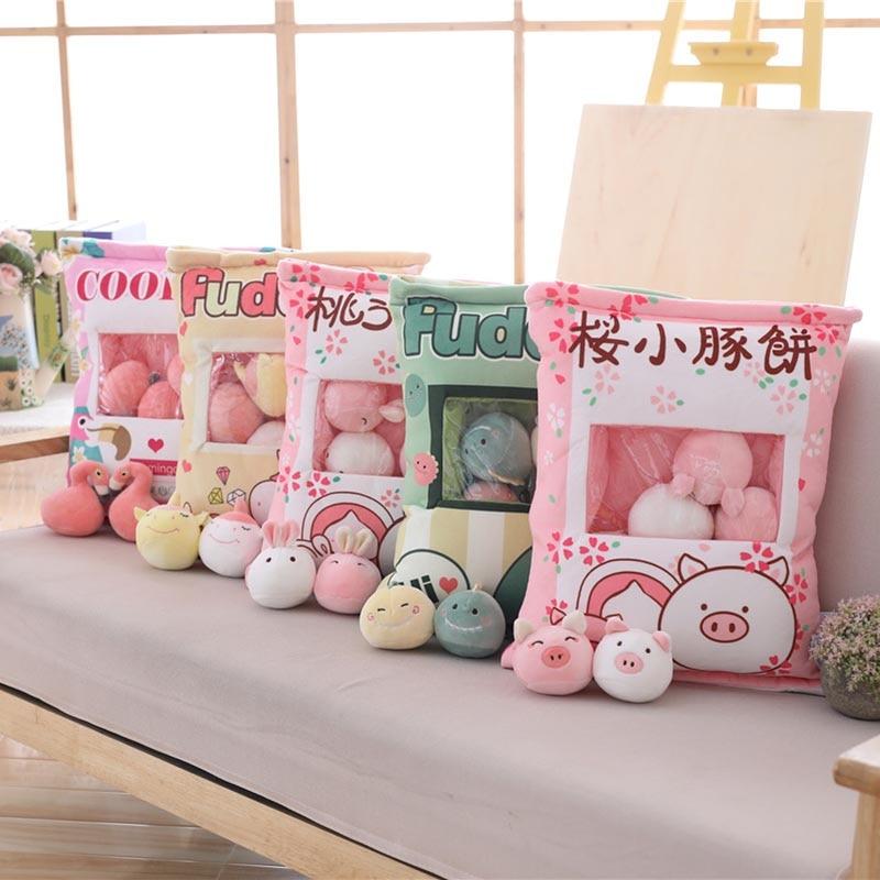 Mini Cartoon Plush Toys Bag Pillow 1
