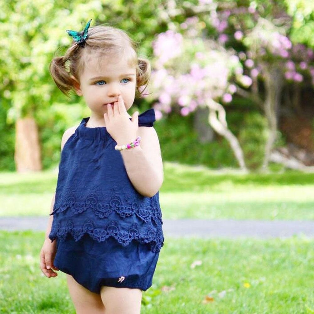 Girls Baby Lace Newborn Triangle Baby Dress Baby Onesies