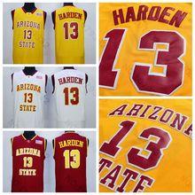 13 James Harden Jersey Mens Vintage Arizona State Sun Devils College James  Harden Basketball Jerseys f5c3a5a42