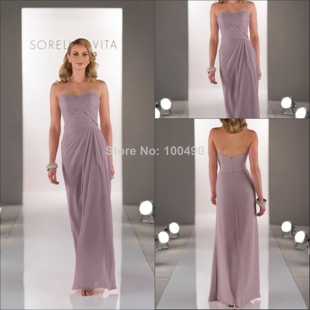 Dusty lavender chiffon long a line bridesmaid dress patterns in dusty lavender chiffon long a line bridesmaid dress patterns in bridesmaid dresses from weddings events on aliexpress alibaba group ombrellifo Images