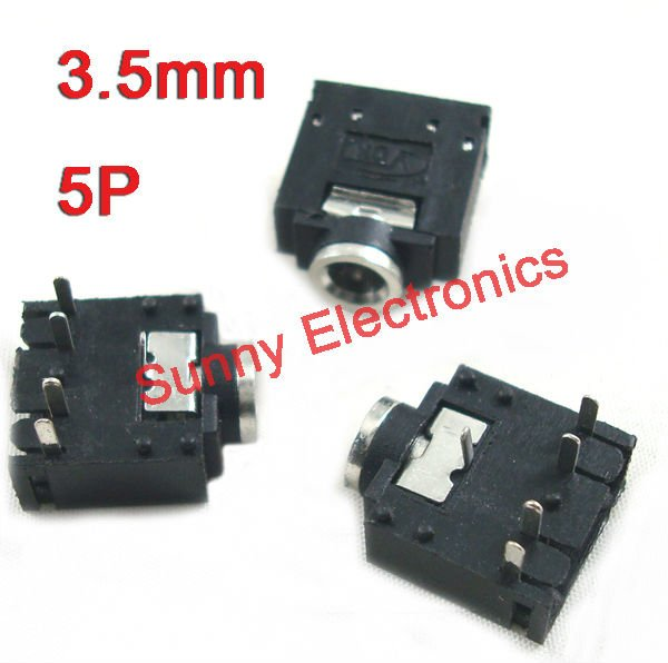 aliexpress com buy 3 5mm stereo jack socket audio connector pcb 3 5mm stereo jack socket audio connector pcb mount 100pcs shipping