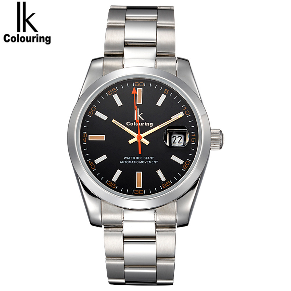 IK Casual Mens Watches Top Brand Luxury Day Watches Auto Mechanical Wristwatch with Orignial Box Free Ship
