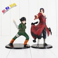 New Arrival 2pcs/lot Naruto Rock Lee & Uchiha Itachi Pvc Figures Collectible Model Toy