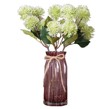 Glass Wedding Decorative Vase Modern Transparent Hydroponics Flower Vase Artificial Flower Tabletop Wedding Decoration Vases