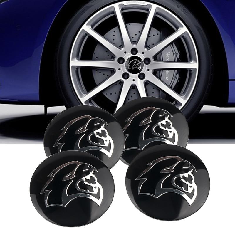 4Pcs 56mm Car Steering Wheel Center Hub Cap Badge Sticker For Dodge Demon Srt HELLCAT Challenger Charger Car Styling Decal