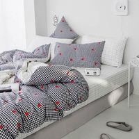 Svetanya Teens Bettwäsche Set 100 Baumwolle flachen blatt + kissenbezug + Tröster Abdeckung Bettwäsche Sets für Einzigen Doppelbett Bettwäsche-Sets Heim und Garten -