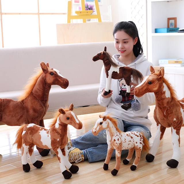 1pc 22cm cartoon simulation little horse plush doll hold pillow infant gift stuffed toy home decoration