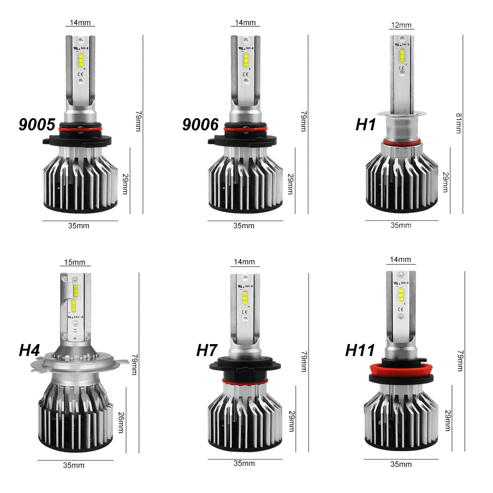 Image 2 - Roadsun Led H4 H7 Car Headlight Bulb H1 H11 HB2 H8 9005 HB3 HB4 9006 LED Light 12V 24V 8000LM 6000K Automotivo Motorcyle lamp-in Car Headlight Bulbs(LED) from Automobiles & Motorcycles