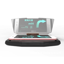 Universal Mobile GPS Navigation Bracket HUD Head Up Display For Smart Phone Car Mount Safe Adsorption Stand Phone Holder