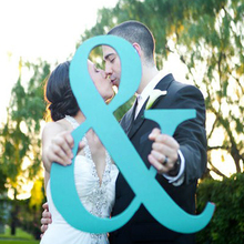 Ampersand Sign  Tall Ampersand Sign Photo Prop Wooden Wedding Sign for Photos - Wedding Sign Photo Prop