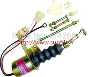 Shutdown solenoid 1751ES SA-3742-12 RSV,12V free shipping fuel shutoff solenoid valve 3932017 sa 3742 12 for rsv solenoid coil free shipping