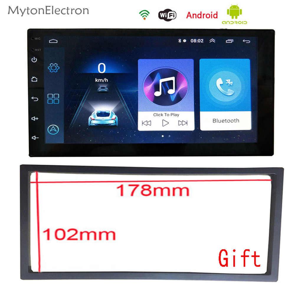 אנדרואיד רכב רדיו אודיו סטריאו FM כפול דין DVD 1024*600 GPS Navigator Bluetooth אינטליגנטי דינמי מסלול חניה מצלמה