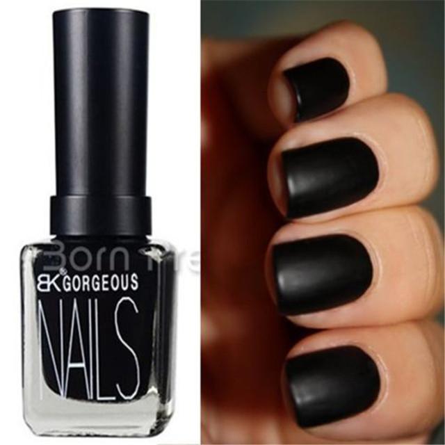 1 Bottle 15ml Matte Pure Black Color Dull Nail Polish Nail Enamel Nail Art Polish Nail Decoration