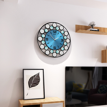 Fashion MEISD 3D Round Wall Clock Modern Design Creative Large Silent Wall Watch Home Decor Colorful Hanging Clocks Free Shining