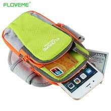 Floveme Спорт повязку чехол для телефона iPhone 7 6 6 S Plus для Samsung S8 S6 S7 край Xiaomi Mi5S Huawei Mate 9 P8 P9 Lite случаях